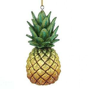 Pineapple Glass Ornament, Kurt Adler Collection